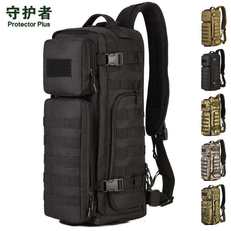Специальная конструкция одного полосу плечо водонепроницаемый рюкзак путешествия многофункциональный большой емкости мужские нейлон дор...