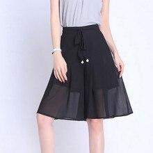 Fashionable Summer Office Lady Plus Size Women Chiffon Skirt Lace Up Decoration High Waist Loose Wide Leg Ladies Shorts все цены