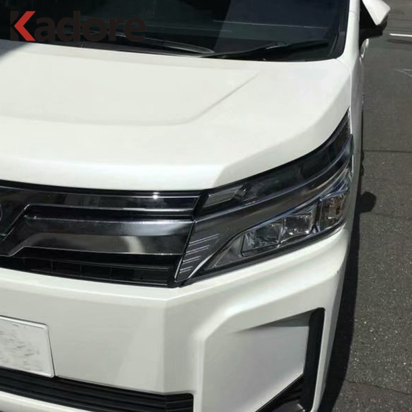 For Toyota Noah Voxy R80 Mid 2017 2019 Facelifted ABS Chrome Headlights Strip Special Modified Decoration