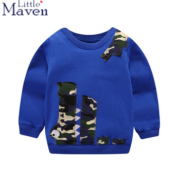 Little Maven Brand 100% Cotton Autumn Fall boys Children Clothes long Sleeve T shirt cartoon Fashion Baby boys T-shirt tShirt