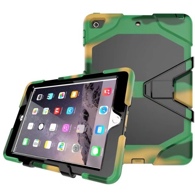 New Version Hybrid Armor Waterproof Shockproof Dustproof Kids Safe Stand silicon Case for ipad2/3 Cover For ipad2/3/4 Shell