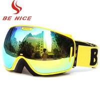 2016 Brand New Ski Goggles Lens UV400 Double Anti Fog Big Spherical Professional Ski Glasses Unisex