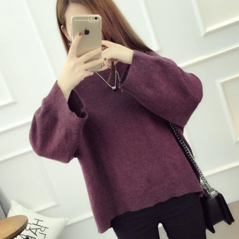 Kesebi 2017 Autumn Winter New Fashion font b Women b font Casual Long Sleeve Thick Oversize