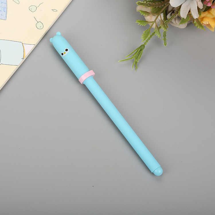 1 PCs kreatywny długopis Cap zwierząt stylizacji neutralny śliczne dowiedz się piśmienne bazie wody pióro Cartoon czarny strzykawki długopis signature