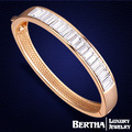 Melhor qualidade de pulseira de cristal de ouro Swarovski Bracciali Donna pulseiras para mulheres presente de natal