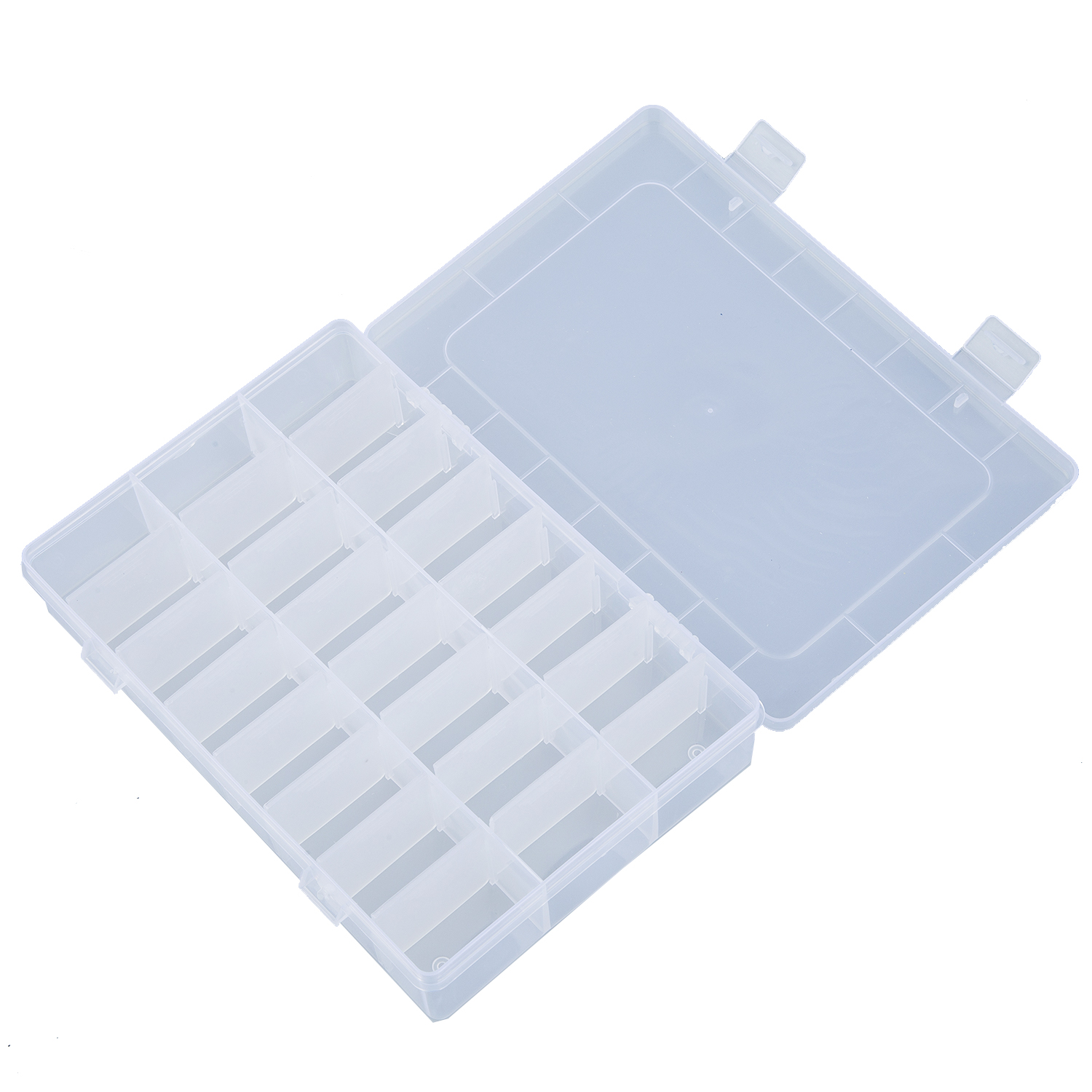 Pill Container Port Tablets Jewels 24 Compartments