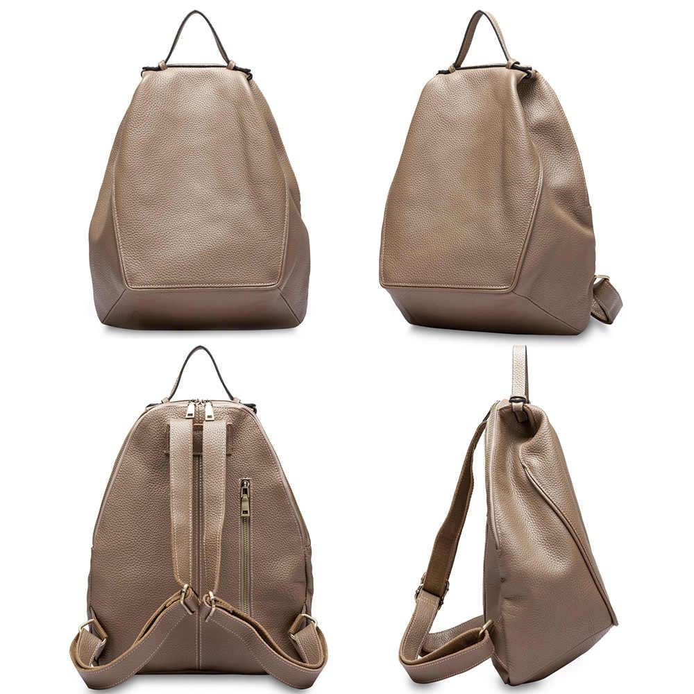 Zency, Большой Вместительный женский рюкзак, 100% натуральная кожа, Женская дорожная сумка, школьный ранец для девочек, модный ранец, нестандартный