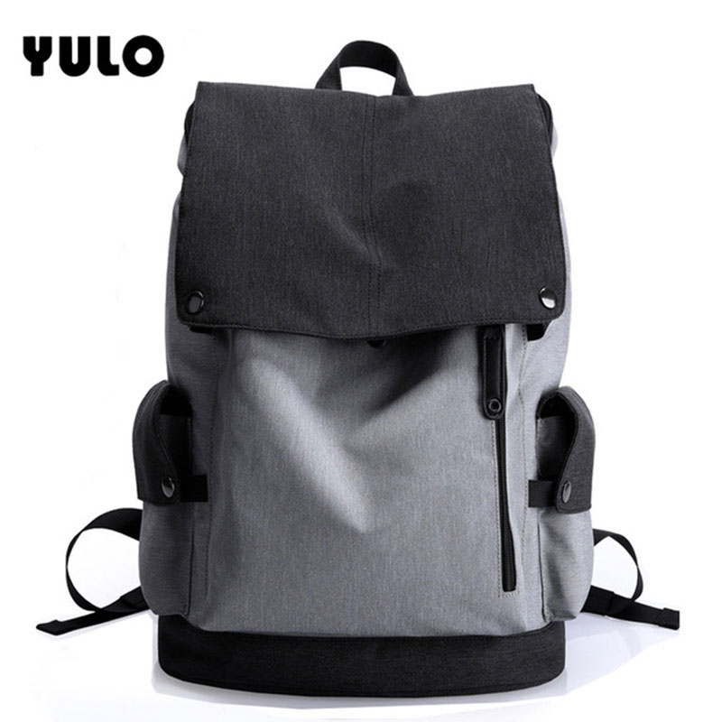 YULO Waterproof Large Capacity 15.6 Inch Laptop Bag Man Design Backpack Bag Black Backpack women School Bags Mochila Masculina