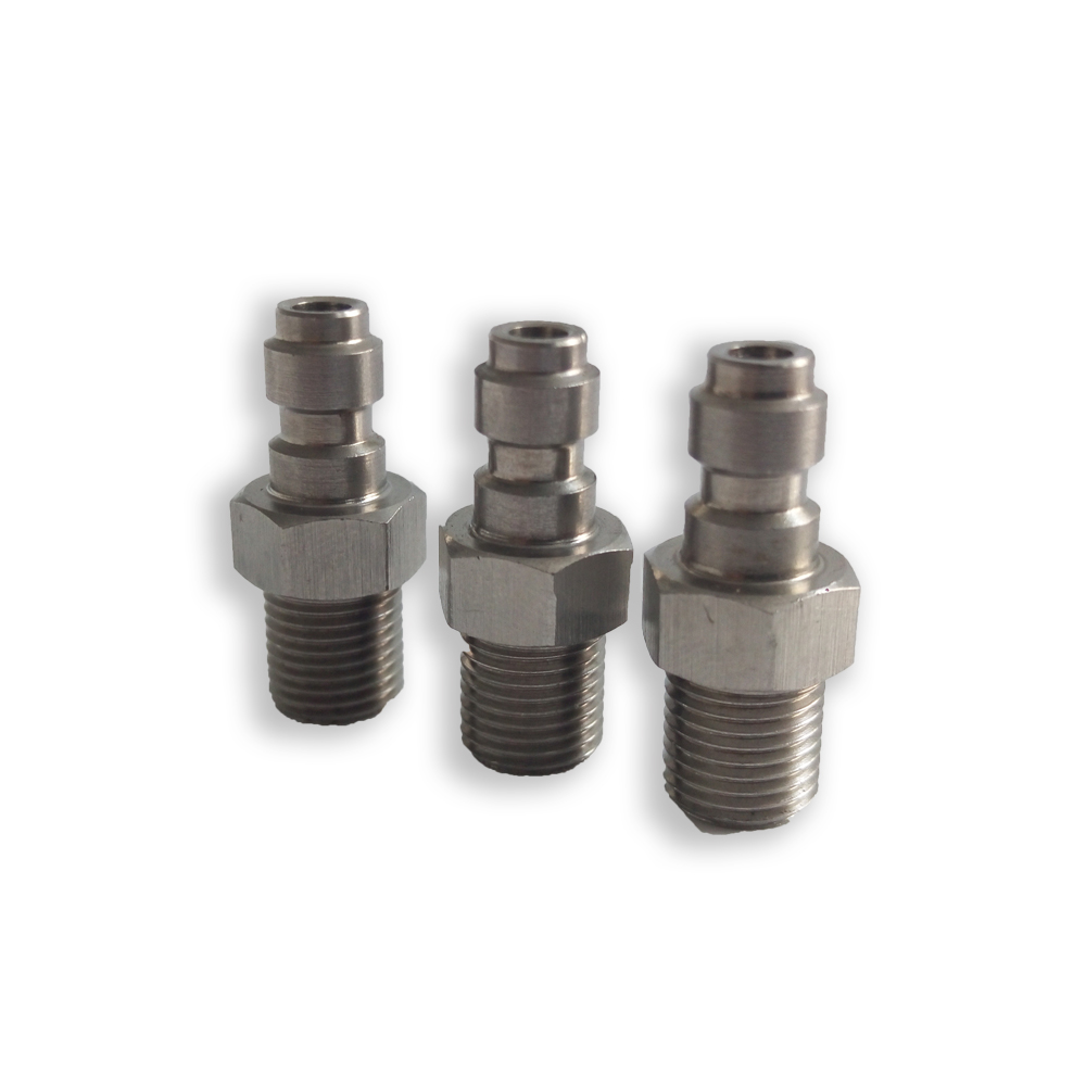 AC8021 Acecare HOT PCP Airforce Paintball Stainless Steel Quick Coupler Connector M10*1 8MM Male Plug For Air Socket Connection