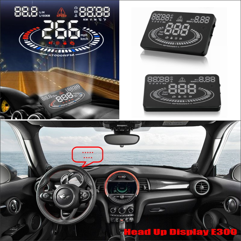 Car Information Projector Screen For Mini cooper R50 R52 R53 - Safe Driving Refkecting Windshield HUD Head Up Display