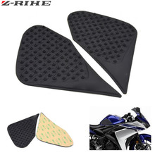 For Yamaha R3 R25 YZF-R3 YFZ-R25 2015 2016 Motorcycle Anti slip Tank Pad 3M Side Gas Knee Grip Traction Pads Protector Stickers for yamaha yzf r3 r25 2015 2016 tank traction pad anti slip 3m sticker motorcycle side decal gas knee grip protecto logo r3