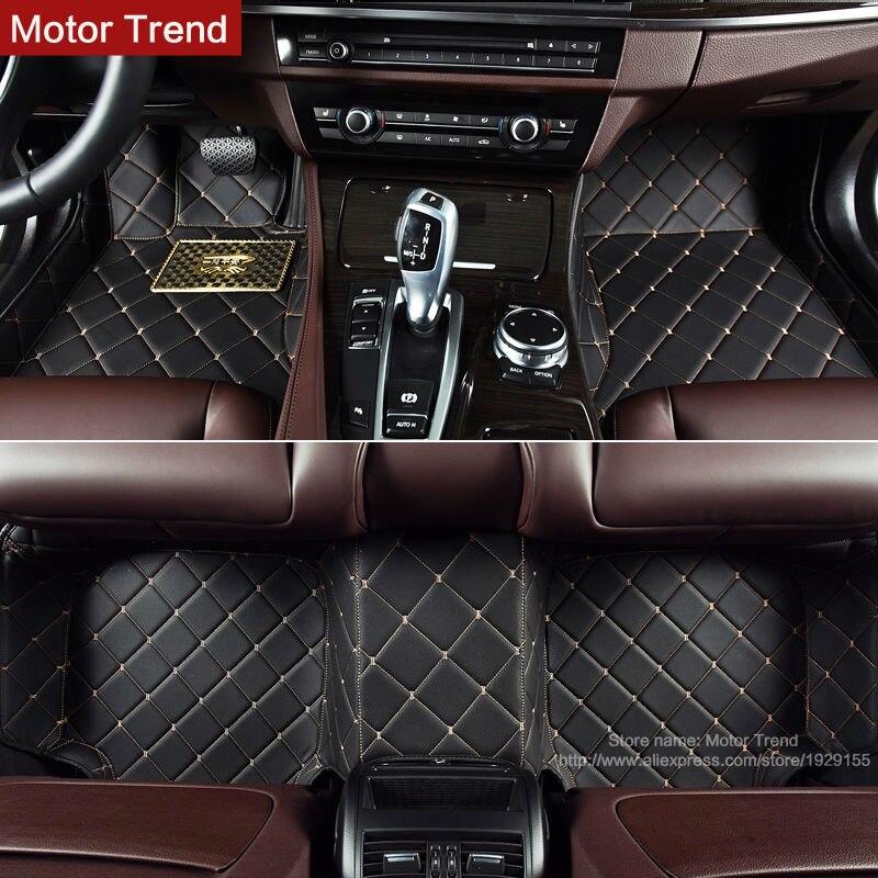 Особый крой автомобильные коврики для Audi Q7 внедорожник индивидуальные полное покрытие Нескользящие ноги чехол автомобиль-Стайлинг ковры к...