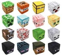 20см Minecraft Плюшеві спіймані сундук, Стіва, Creeper Квадратні фаршировані ляльки Мультфільм Іграшки Подушка Дитячий подарунок