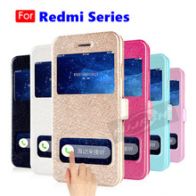 Luxury Front Smart Window Caller Display View Leather Filp Case For Xiaomi Redmi 5 Plus 3S 4X 4A 5A 6 7 Pro Note Cover