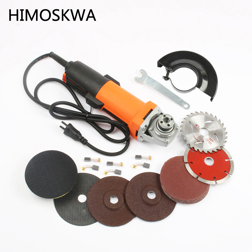 цена на HIMOSKWA 1010W Tool Electric Angle Grinder Power Tools cutting Machine Electric Tool for Grinding of Metal Woodworking