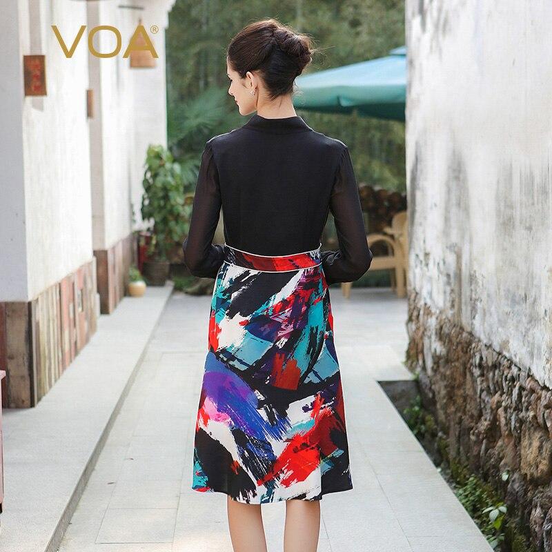 VOA 2017 есен с дълъг ръкав копринен - Дамски дрехи - Снимка 2
