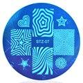 1 шт. Звезды и Формы Сердца 5.5 см Круглый Ногтей Штамп Плиты Шаблона Изображения # STZA07