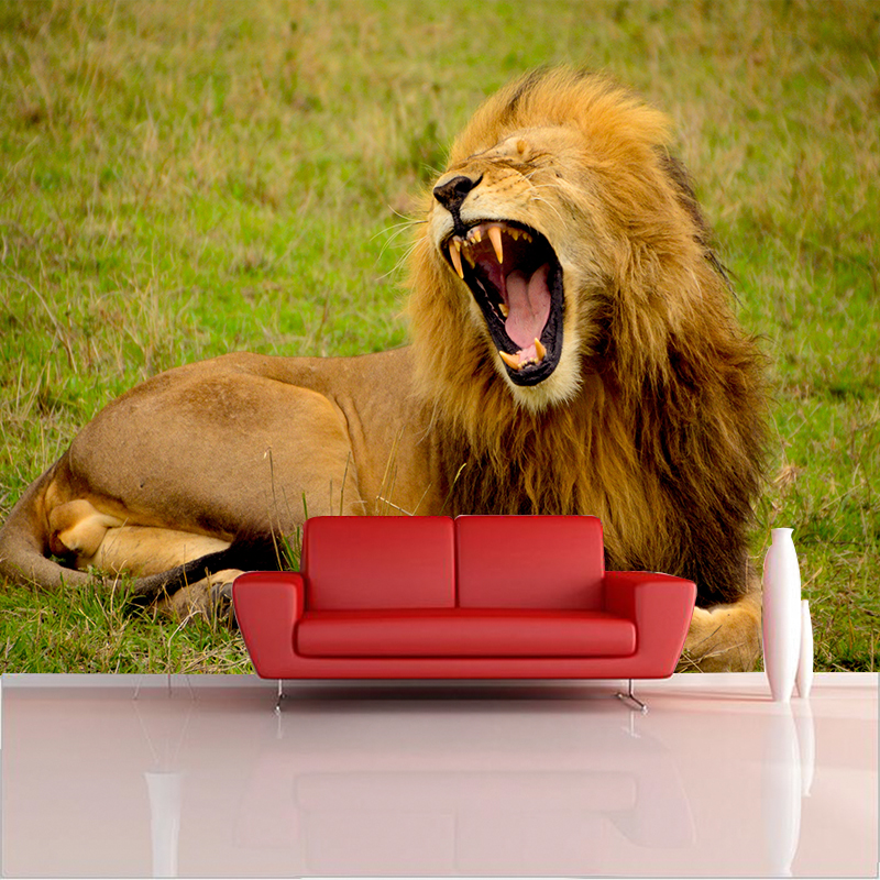 Custom Any Size HD 3D Photo Stereo Lion Photo Wallpaper Mural 3d  for Backdrop Living Room Bedroom Background Decor Wall paper custom 3d mural wallpaper print modern living room sofa tv bedroom fashion colorful lion photo background decor wall paper rolls