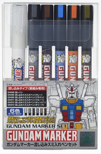 GSI Creos Gundam Marker Pouring Inking Pen Set Detail Builders Parts GMS122 pouring for profit