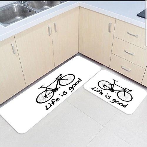 Tapis tapis de cuisine pour tapis de sol 2 pièces tapis de cuisine et tapis ensemble vie moderne vélo chambre salon paillassons