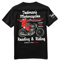 Japanese tide brand lucky ghost motorcycle pattern short sleeve t shirt Summer new arrival fashion cotton quality t shirt men