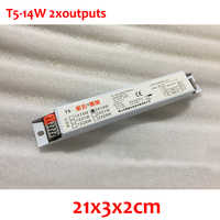 1 шт. 220-240 В AC 14 Вт T5 два выхода люминесцентные лампы и amp неоновая лампа Электронный балласт 50/60 Гц