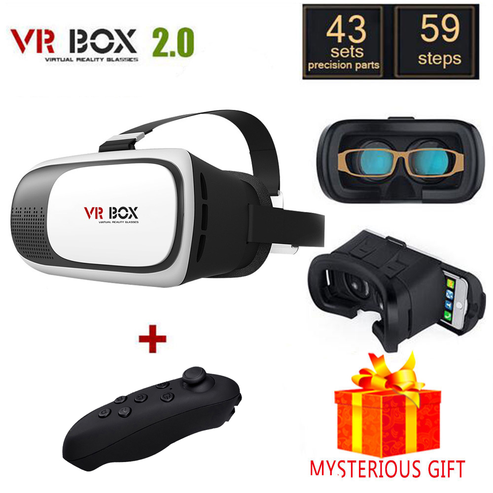 Vrbox VR Box 2.0 2 II 3 D Casque Lunette 3D Virtual Reality Glasses Goggles Headset Helmet For Smartphone Smart Google Cardboard hot sale set of diy 3d virtual reality video glasses vr cardboard box for 5 0 inch smartphone