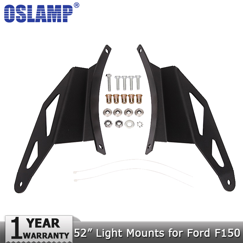 Oslamp 52 Curved Led Light Bar Roof Mounts Led Work Light Bar Upper Windshield Mounting Brackets for Ford F150 2004-2014 шрамы 3d blu ray