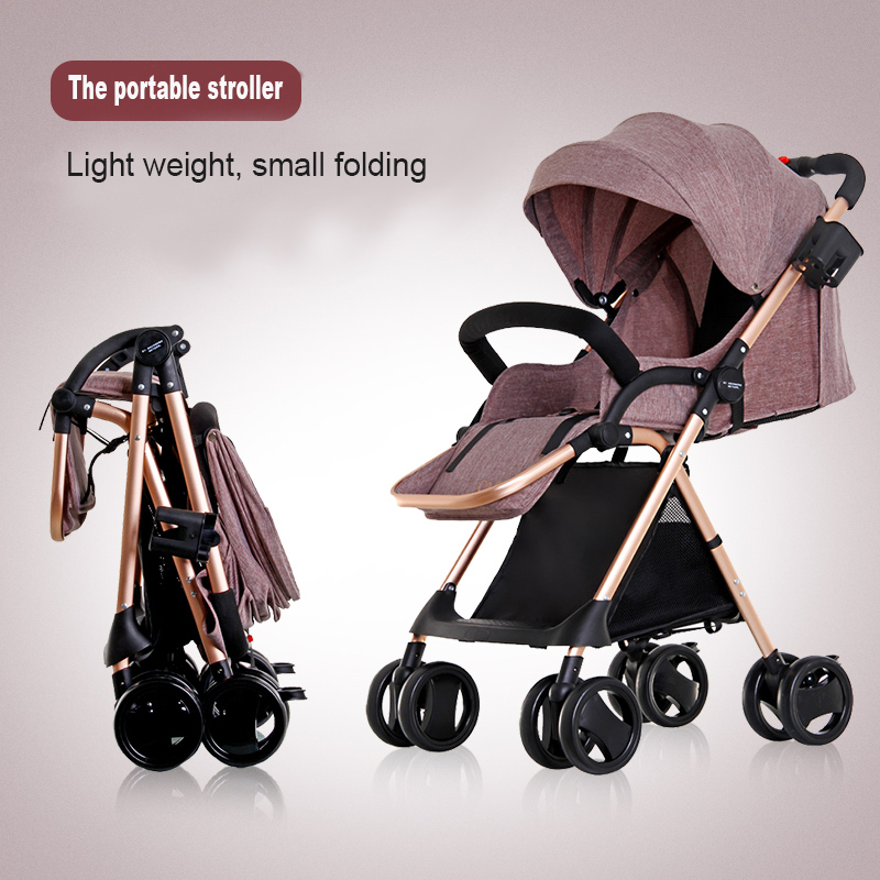 High Landscape Foldable Baby Stroller Ultralight Luxury Baby Pram Protable Baby Car Poussette Pliante Carrinho 5 3kg baby stroller pram stroller ultra portable baby umbrella baby car foldable wheelchairs poussette baby carriage