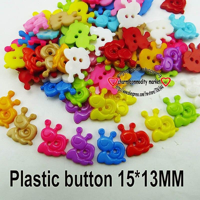АКЦИЯ 100 шт смешанные формы много цветов Сделай Сам Скрапбукинг Мультяшные кнопки пластиковые кнопки детская одежда швейные принадлежности P-001 - Цвет: 15