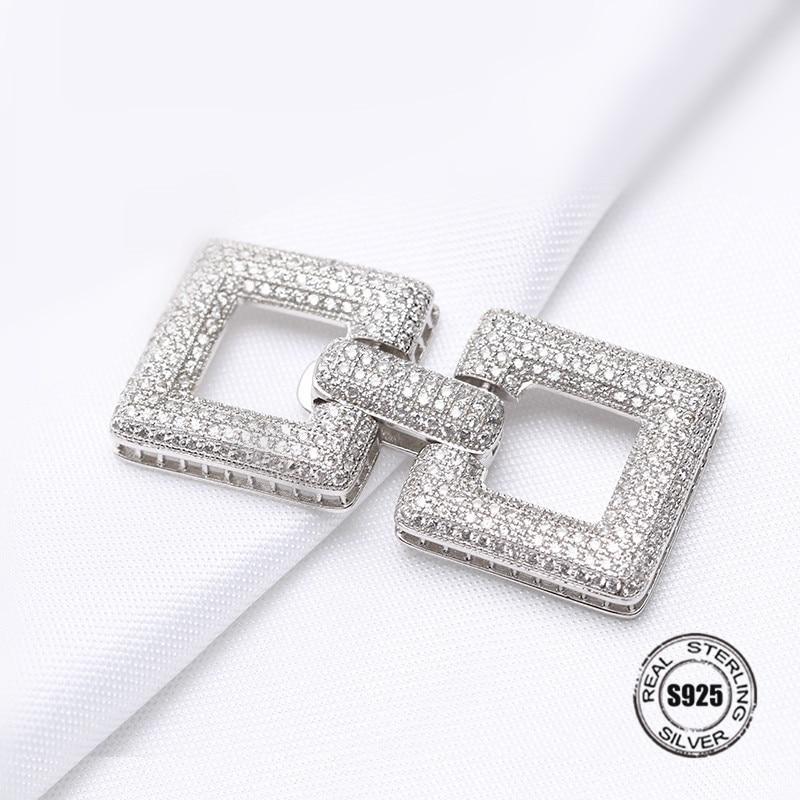 Silver Hollow Heart Pattern Connector Charm Zircon Pendant Accessories For Women Pearls Tassel Jewelry DIY Making
