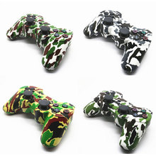 New Design 4 Style Camouflage Color Wireless Bluetooth Controller for play station 3 PS3 Controller (retail package) TW-418