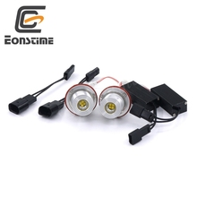 Eonstime 7000K 2pcs12V/24V 2X20W 4LED Marker Angel Eyes Light Bulb XTE R4 for BMW E87 E39 M5 E60 E61 E63 E53 E83 X3 X5 Z3