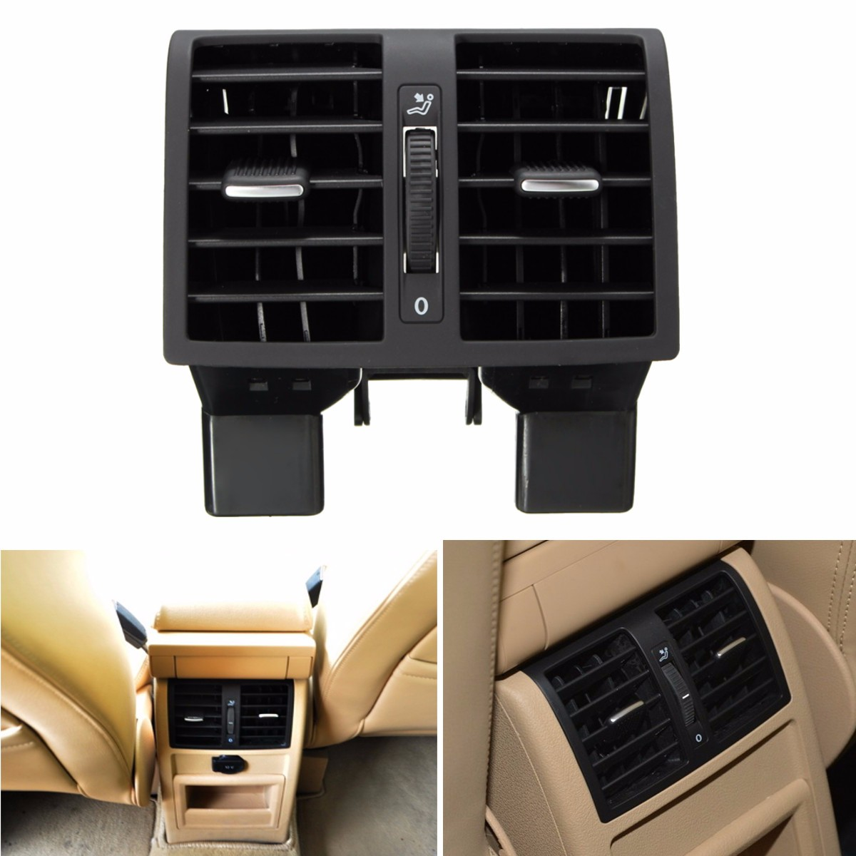 Citall 1td 819 203 Rear Ac Air Conditioning Outlet Vent 1td819203a Comport Carpet Karpet Mercy C250 Coupe 2 Pintu Deluxe 12cm Centre Console 1t0819203 1td819203b For Vw Touran 2003