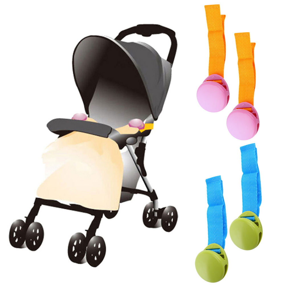 Delicate Baby Stroller Accessory 2018 Hot Selling 2pcs/lot Glossy Multicolour Anti Tipi Blanket Clip Useful Stroller Accessor