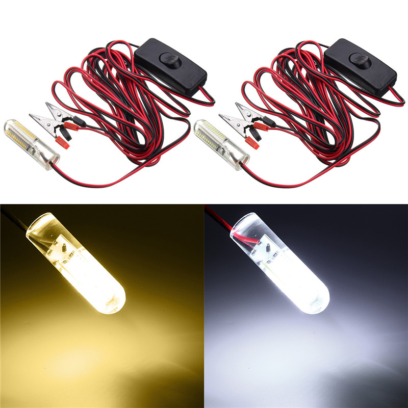 Cool/Warm White LED Bulb Light 3014 96 smd LED Underwater Light LED Fishing Light Night Boat Attracts Fish DC12V 12W g24 6w 550lm 3000k 55 3014 smd led bulb warm white light bulb white silver ac 85 265v