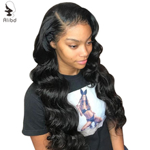 Human-Hair-Wigs Frontal-Wigs 13X6 Alibd with Body-Wave Lace-Front Pre-Plucked Malaysian