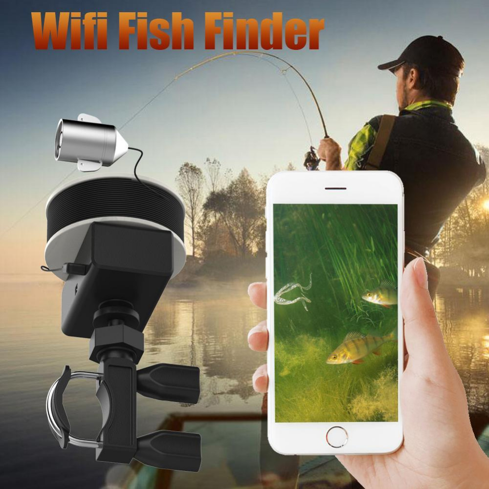 WIFI Wireless 20M Underwater Fishing Camera Portable Fish Finder Video Recorder IR LED Spring Ice Fishing for Lakers 2 4g wireless fish finder underwater fishing camera video free soft app 50m underwater breeding monitoring for fish searching