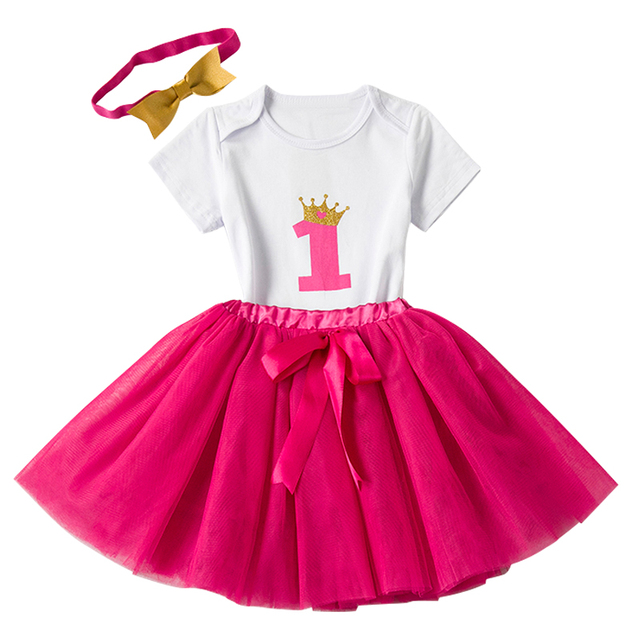 Newborn Girl Clothes Sets Baby Born 1 Year Birthday Gift Infant Clothing Set 3pcs Toddler Bebes Outfits Wear 12 Months