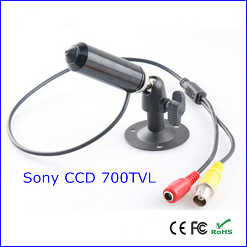 bullet sony ccd 700tvl mini cctv security camera with bracket mini bullet cvbs ccd camera 700tvl with headset mount for mobile surveillance security video 5v
