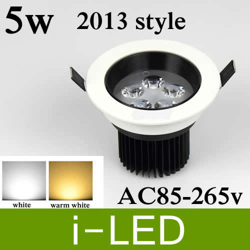 50pcs Lot LED DownLight Dimmable 5W Items White Shell 550LM Bathroom Living Room Kitchen Light Cool Warm Ceiling