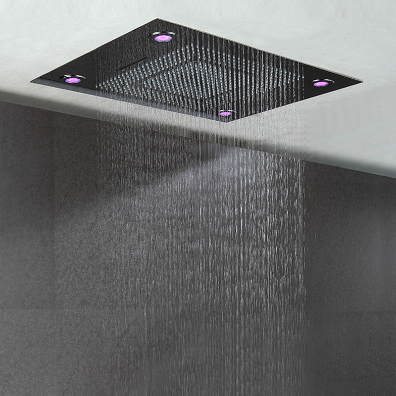 Bathroom Big LED Shower Heads Remote Control LED Light Showers Ceiling Embedded Rainfall,Waterfall and Water Curtain Showerhead deer water resistant shower curtain