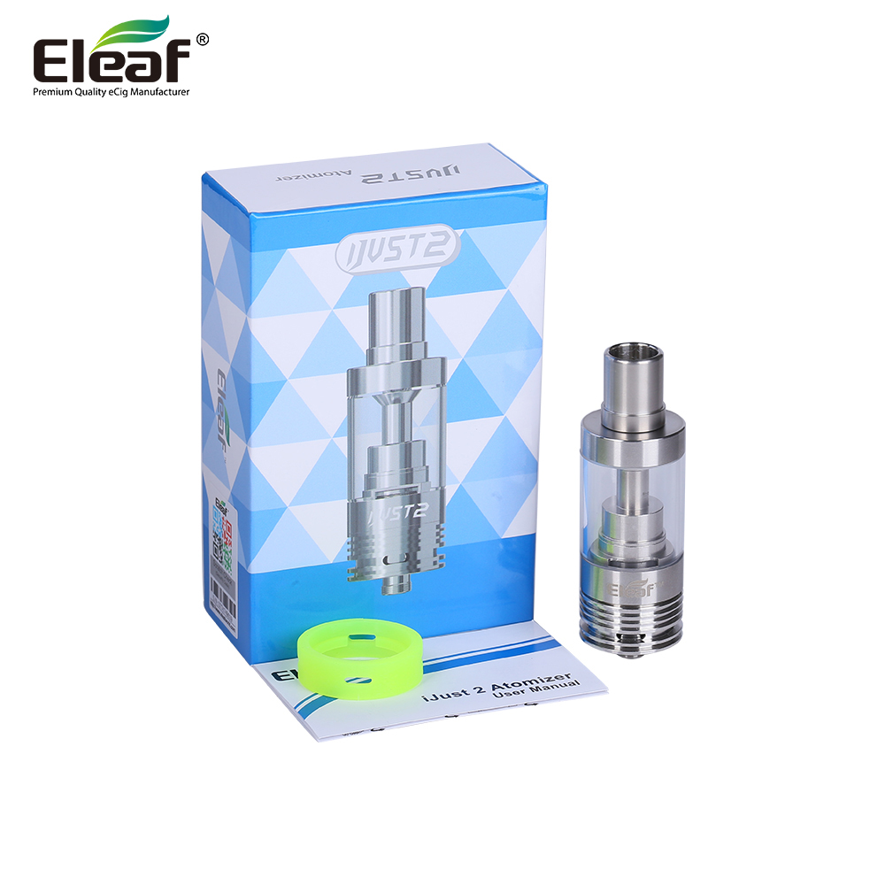 Original Eleaf iJust 2 Atomizer fit iJust 2 electronic cigarette with Capacity 5.5ml Tank Atomizer with EC 0.3ohm coil Head vape