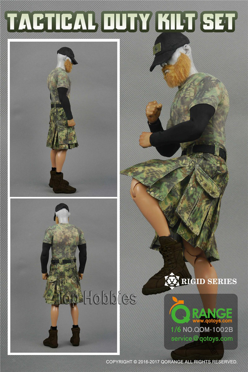 Female Body Accessories Combat Skirt Clothing Suit QORANGE QOTOYS 1/6 QOM-1002B Camouflage Model Not include head figure shoes