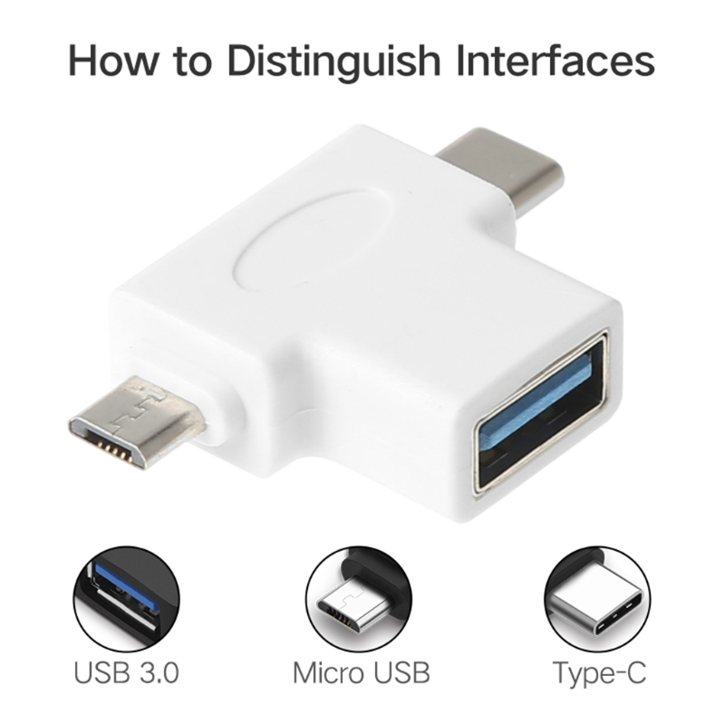 USB 3.0 OTG Adapter Converter Micro USB Type C For Samsung Xiaomi Huawei Android