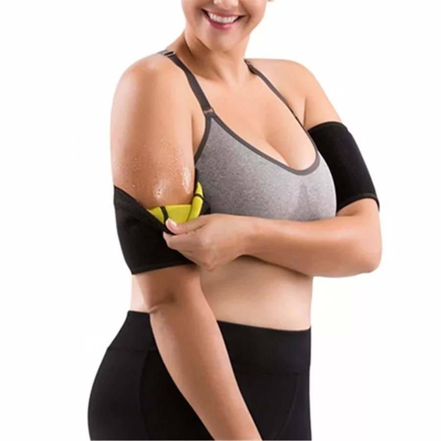 ed8eba7c0b 1 Pair Women Hot New Neoprene Hot Arm Shapers sleeves Shaper Slimming Arm  Belt Sauna Sweating sport Weight Loss Fitness Arms pad