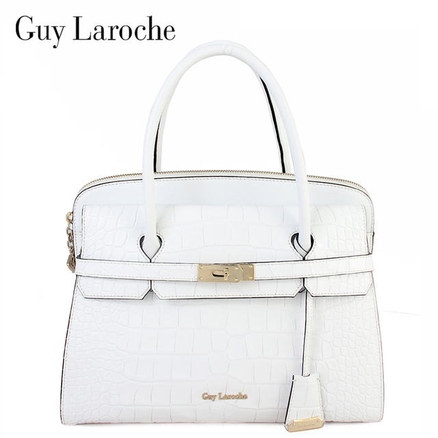 Guy Laroche Women S Handbag First Layer Of Cowhide For Crocodile Bag Genuine Leather Large