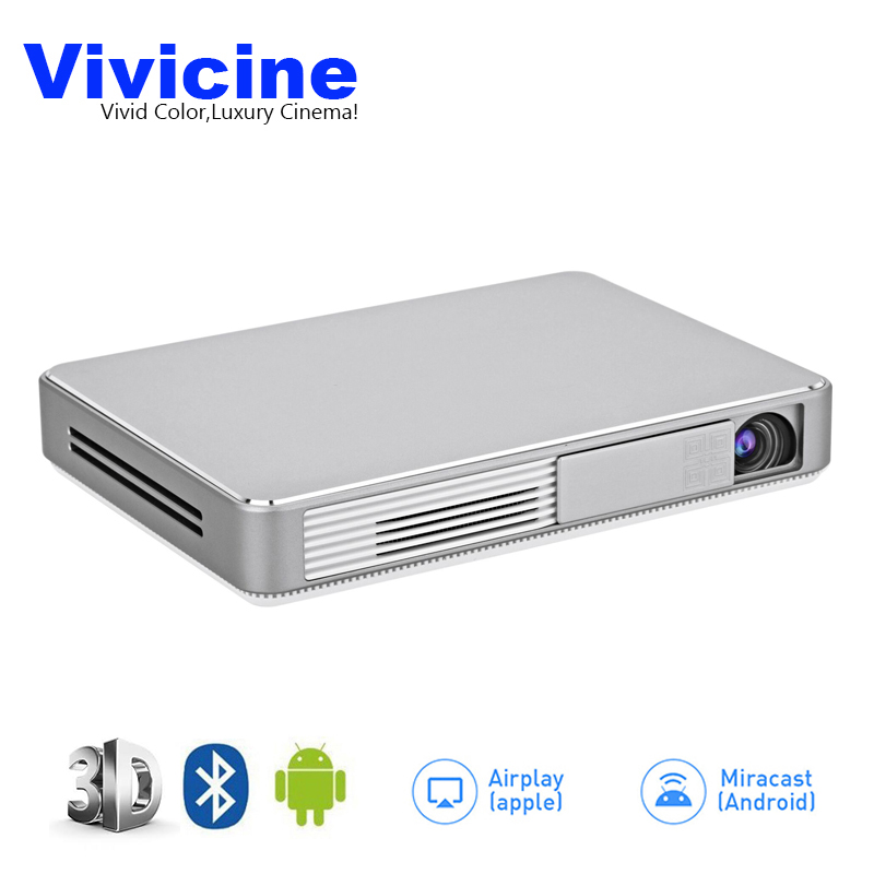 Vivicine Latest Portable WIFI 3D 1080p Home Theater font b Projector b font Miracast Airplay Proyector