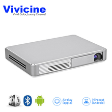 Vivicine Latest Portable WIFI 3D 1080p Home Theater Projector  Miracast Airplay Proyector Beamer,Optional 10000 mAH Battery