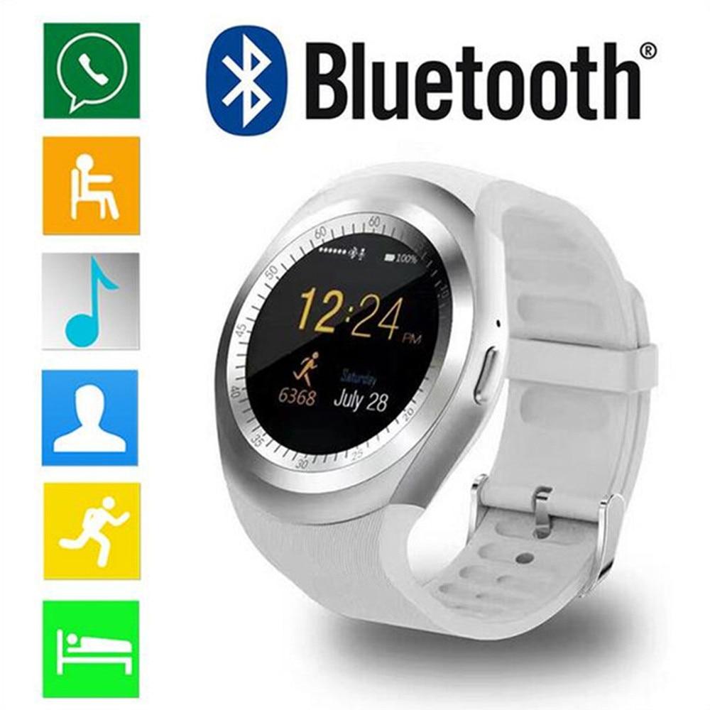 GEMIXI 2018 Bluetooth Smart Watch Phone Mate pantalla redonda completa SIM para Android para IOS Smart pulsera dropship